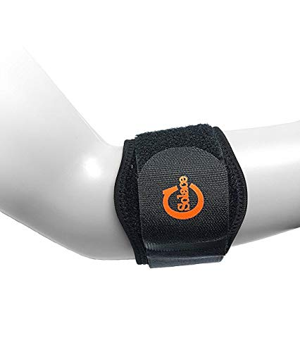 Solace Care Tennis-Ellenbogen-Bandage mit Gel-Pad, seitliche Epicondylitis, EPI Verschluss, Ellenbogenstrecker, Sehnenscheidenentzündung, lindert Unterarmschmerzen