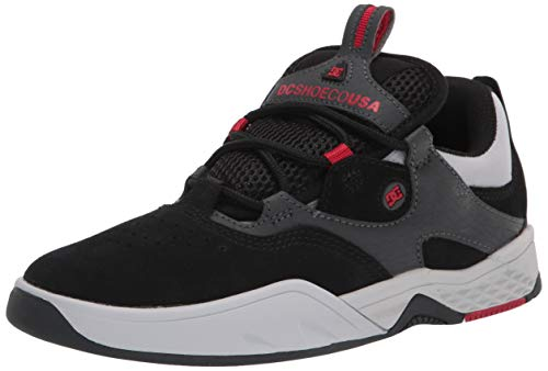 DC Kalis - Zapatillas de skate para hombre, Multi (Negro/Gris/Rojo), 42 EU