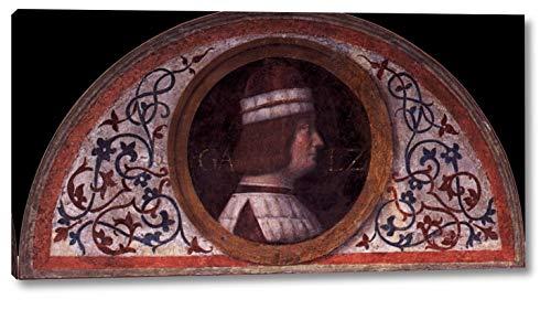 "Portrait of Galeozzo Sforza by Bernardino Luini - 10"" x 20"" Gallery Wrap Canvas Art Print - Ready to Hang"