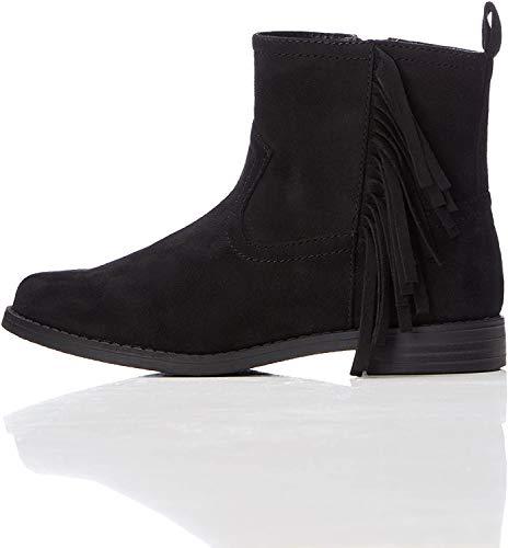 RED WAGON Mädchen Ankle Boots Stiefel mit Fransen, Schwarz (Black), 30.5 EU