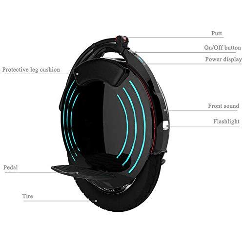 Elektro-Einrad mit hellen LED Scheinwerfer Bild 4*