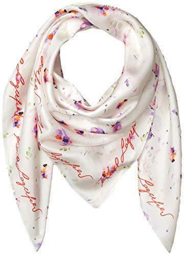 Karl Lagerfeld Paris Damen Painted Floral 100% Silk Twill Square Scarf Schal für kaltes Wetter, violett, Einheitsgröße