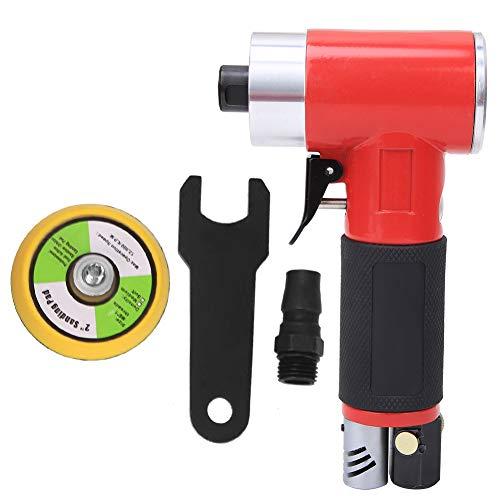 Pulidora neumática, pulidora de aire, disco de pulido de 2 pulgadas, 15000 rpm con regulación de velocidad continua de conexión rápida M6(Same core)