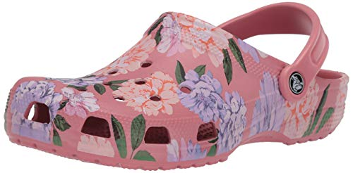 Crocs Men's and Women's Classic Floral Clog|Casual Slip On Water Shoe, Blossom, 7 US 5 US M US