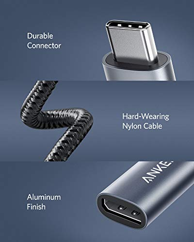 Anker PowerExpand USB-C auf DisplayPort Adapter, Aluminium USB-C Hub mit 4K@60Hz, für Homeoffice, kompatibel mit MacBook Pro, MacBook Air, iPad Pro, XPS 15/13, Spectre, Surface und mehr