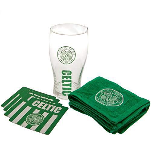 Celtic FC Official Mini Bar Set (One Size) (Green/White)