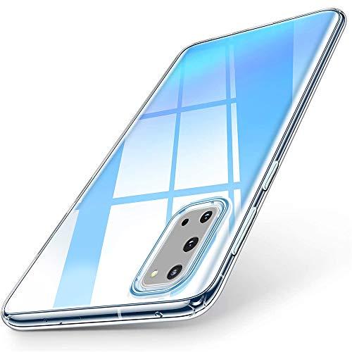 wsky Handyhülle Kompatibel mit Samsung Galaxy S20 Hülle Transparent, Ultra Dünn Silikon Handyhülle, Anti-Gelb Durchsichtige Hülle, Crystal Clear Schutzhülle für Samsung Galaxy S20