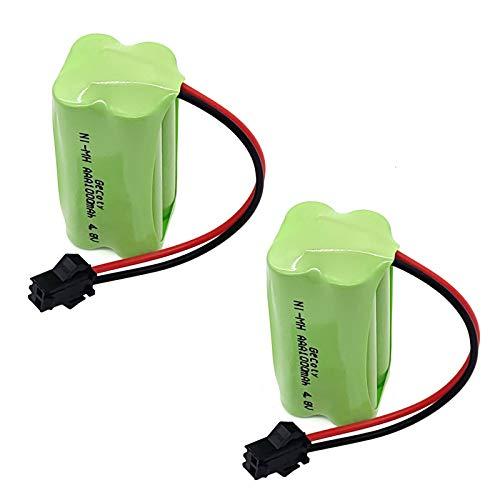 Gecoty 2 Piezas de batería AAA de 4.8V, batería Ni-MH Recargable de 1000mAh con Conector SM 2P, para RC Stunt Car RC Robot