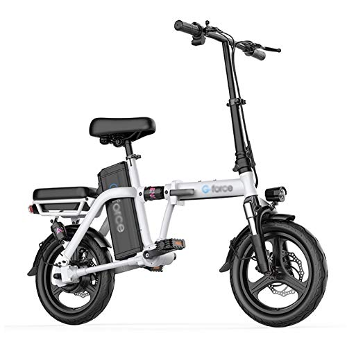 LOMJK Electric Mountain Bike, 400W Chainless Electric Folding Electric Bicycle, Equipped With Detachable Adult 48V 20Ah Lithium-ion Battery
