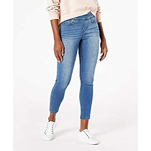Women's Mid-Rise Pull on Skinny Crop Jeans