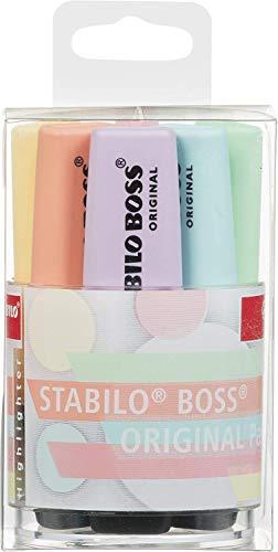 Surligneur - STABILO BOSS ORIGINAL Pastel - Pot x 6 surligneurs - Coloris assortis