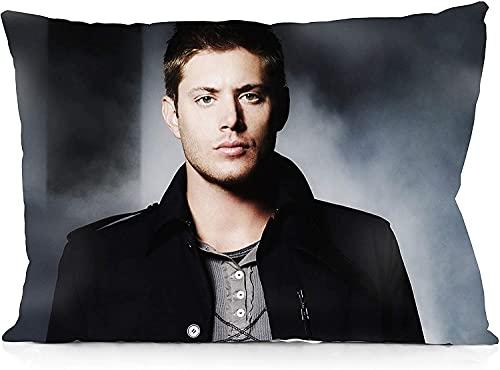 Supernatural Dean Winchester - Funda de almohada decorativa de ambos lados para dormitorio, sala de estar, comedor, sillón, sofá, cama, funda de cojín decorativa de 50,8 x 76,2 cm