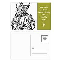 絵画の伝統的な中国のドラゴン線 詩のポストカードセットサンクスカード郵送側20個