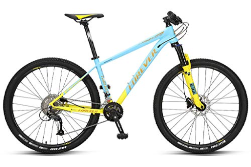 Mountain Bike 27.5 Inch Adult Aluminum Alloy Frame 18-speed Oil Disc, Off-road Variable Speed Bicycle Cool Colors, For Your Lover A