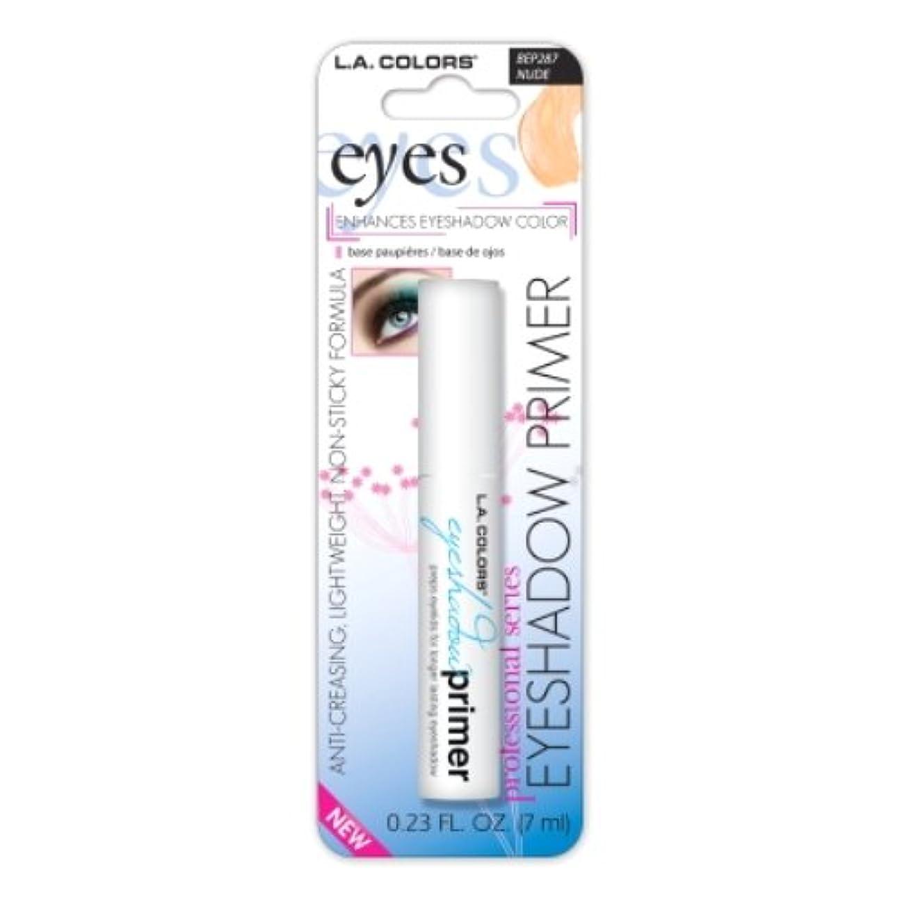アクチュエータ計り知れないルーキー(6 Pack) LA Color Eyeshadow Primer - Nude (並行輸入品)