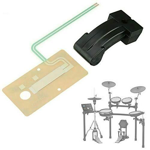 Sheet Sensor Stellmotor Pedal für Roland Drum FD-8 TD-1 Hi Hat Pedal Gummi Teilschaltung TD4 9 11 15 17 Drum Zubehör (Pedalgummi + Blechsensor)