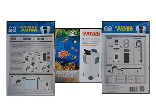 SunSun HW-302 3-Stage External Canister Aquarium Filter 264GPH
