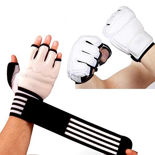 HyXia Boxhandschuhe, Fingerlose MMA-Handschuhe, Mit VerläNgerten Armschienen, FüR MMA-, Muay Thai-, Kickbox- Und Kampfsporttraining,L
