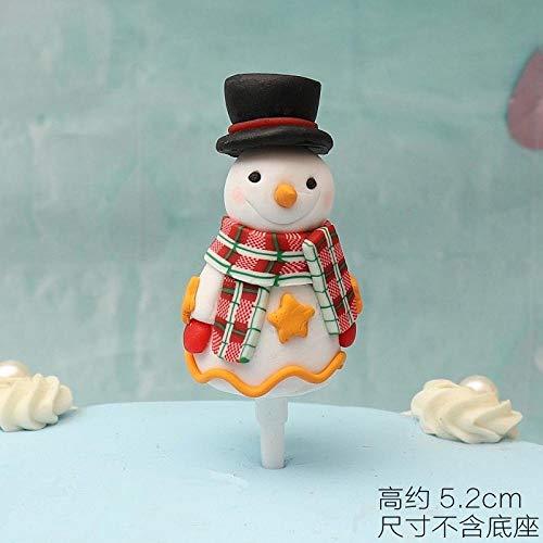 JIANG Decorazione Plug-in per Decorazioni Natalizie Plug-in da tavola da Dessert Santa Decorazioni Natalizie per Torta Pupazzo di Neve @ Snowman 3