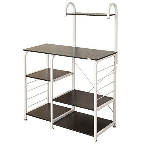 Soges 4-Tier Kitchen Baker's Rack Utility Microwave Oven Stand Storage Cart Workstation Shelf 172-BK-CA