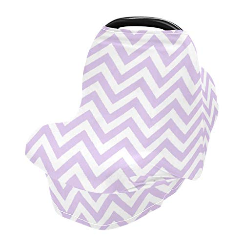 Nursing Cover Breastfeeding Scarf Stylish Lavender Purple - Baby Car Seat Covers, Stroller Cover, Carseat Canopy (801o)