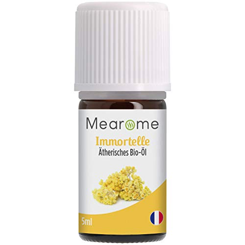 Immortelle BIO⎟100% Naturrein Ätherisches Öl⎟Helichrysum italicum⎟Zertifizierte BIO-Qualität⎟Italienische Immortelle⎟5ml⎟Aromaöl Duftöl Aromatherapie...
