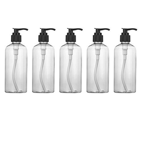 TOPBATHY 5 Stücke Pumpflasche Nachfüllbar Pumpspender Leer Seifenspender Handgel Pumpe Gelspender Reise Hygiene Reinigung Flüssigkeiten Flasche für Küche Bad Außen (200ml)