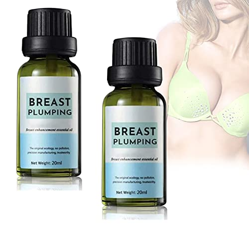 2 PCS Breast Plumping Essential Oil, Plant Extracts Fast Breast Grow Big Boobs Firming Massage Oil, Breast Skincare Advanced Micro Gel Natural Curves (Two Bottles)