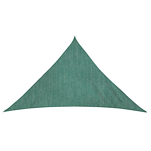 jarolift Sonnensegel Dreieck atmungsaktiv, 510 x 360 x 360 cm, grün
