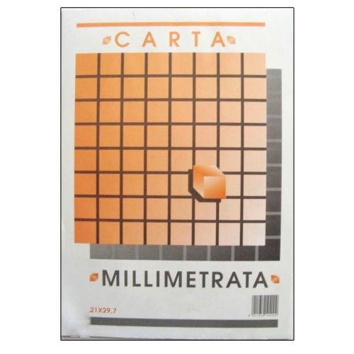 takestop® Blocco Carta MILLIMETRATA A4 Album PICARTA FABRIANESE Foglio 21x29,7CM 10 Fogli 80GR INGEGNERIA Disegno Scuola