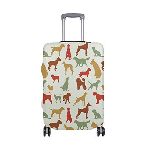 Alinlo Gepäck mit Hundemotiv, für Gepäck, Koffer, Reiseschutz, passend für 45,7–81,3 cm