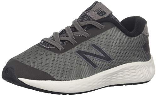 New Balance Boys' Arishi Next V1 Hook and Loop Running Shoe, Dark Gull Grey/Black, 6 M US Toddler