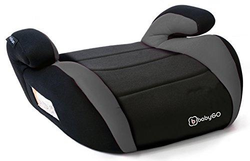 BabyGO 3501 Booster Kinderautositz Autositz Sitzerhöhung, Gruppe 2/3, grau