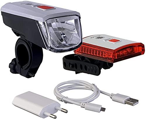 Büchel Vancouver LED Batterieleuchtenset, StVZO zugelassen, silber/schwarz