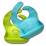 Silicone Baby Bibs Easily Wipe Clean - Comfortable Soft Waterproof Bib...