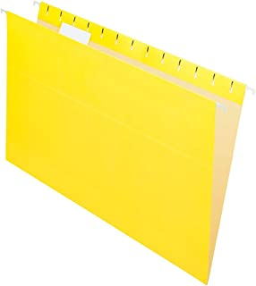 Office Depot 2-Tone Hanging File Folders, 1/5 Cut, 8 1/2in. x 14in, Legal Size, Yellow, Box of 25, OD81626