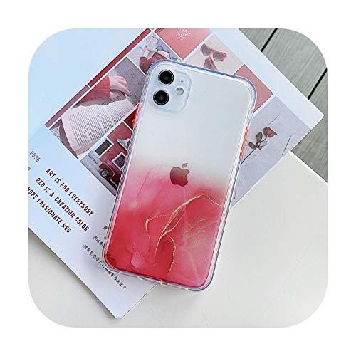 Carcasa de lujo de mármol transparente para Samsung S21 S20 FE Note 20 Ultra A21S A31 A51 S20 Plus A01 Core S20 Lite A71 Cute Cover-2HY2-For-Samsung S20FE