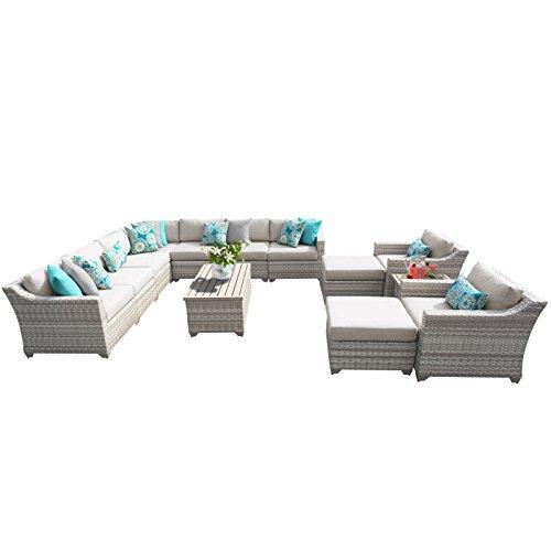 TK Classics FAIRMONT-13a 13 Piece Outdoor Wicker Patio Furniture Set
