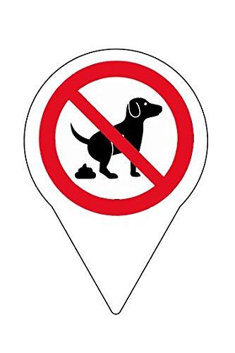 4 STK. Schild Steckschild Verbot Kein Hundeklo - 150 x 110 mm - 4 mm Alu Verbundplatte
