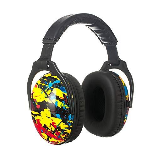 ear protectors for kids PROTEAR Kids Ear Protection Safety Ear Muffs, NRR 25dB Noise Reduction Hearing Protection for Kids, Adjustable Ear Defender for Children Concerts, Firework, Homework (Colorful Ink-splash)
