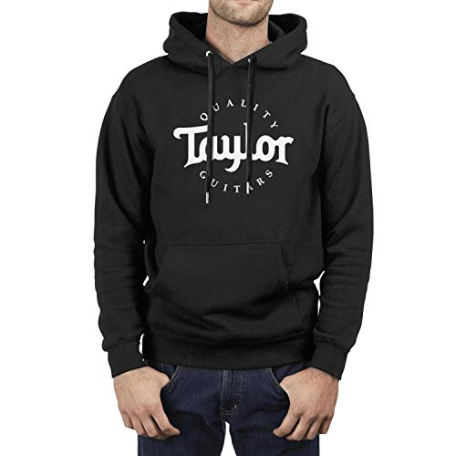 HQWT Men Cool Hoodies Sweatshirt Quality-Taylor-Guitars-Music-Mini-bass- with Pocket Black Hoodie Jacket