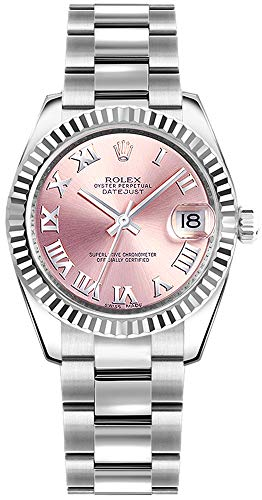 Rolex Datejust 31 Pink Roman Numeral Dial Oyster Bracelet Ladies Watch Ref. 178274