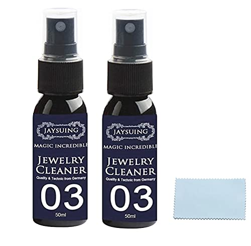 Gsdxz Tarnishgone Jewellery Cleaner, 2Pcs 50ML Quick Jewelry Cleaning Spray, Watch Diamond Silver Gold Jewelry Cleaner Solution, Restores Shine And Brilliance to Jewelry