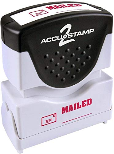 ACCUSTAMP2 Message Stamp with Micro ban Protection, MAILED, Pre-Ink, Red (035586) Photo #7