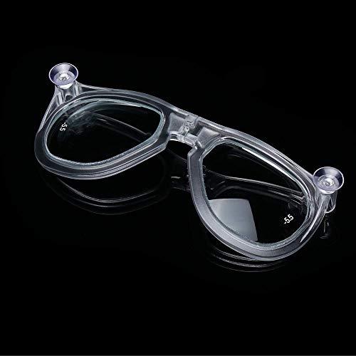 Khroom® Brillengläser Sehhilfe speziell für Schnorchelmasken z.B. Seaview X, Seaview BC und Seaview 180° (Kurzsichtig) (Rechts, 2.5)