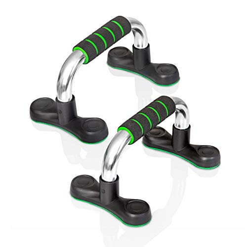 Mazzello Steel Push Up Handles for Floor - Push Up Stands Strength Training - Lightweight 1.3 lbs - Non-Slip Floor Exercise Equipment for Men and Women - Push up Bars to Take Anywhere