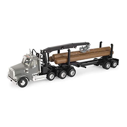 ERTL Freightliner 1:32 Scale 122SD Logging Truck with Logging Trailer