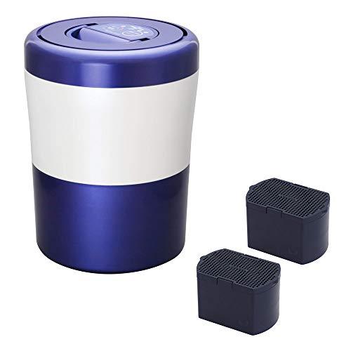 脱臭フィルターセット島産業 家庭用生ごみ減量乾燥機 パリパリキューブ ライト アルファ ブルーストライプ PCL-33-BWB