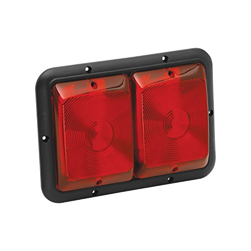 Bargman 34-84-527 Recessed Double Taillight with Stop/Tail/Turn (Black Base, Red)