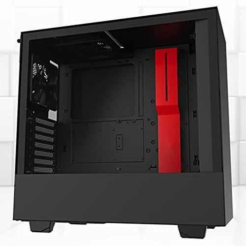 YINxy Diseño Minimalista, apoyar La Refrigeración por Agua, SSD HDD Ventilador De 120 mm, Caja De Torre Gaming Compatible con Placas ATX, M-ATX e ITX -Color Negro